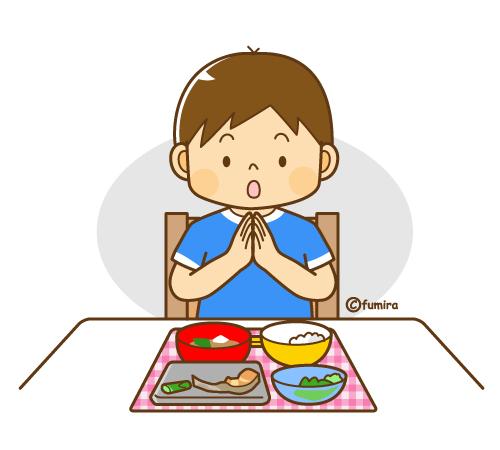 食事を残して ごちそうさま をする男の子のイラスト ソフト 子供と動物のイラスト屋さん わたなべふみ 2021 イラスト 男の子 イラスト ソフト 子供イラスト
