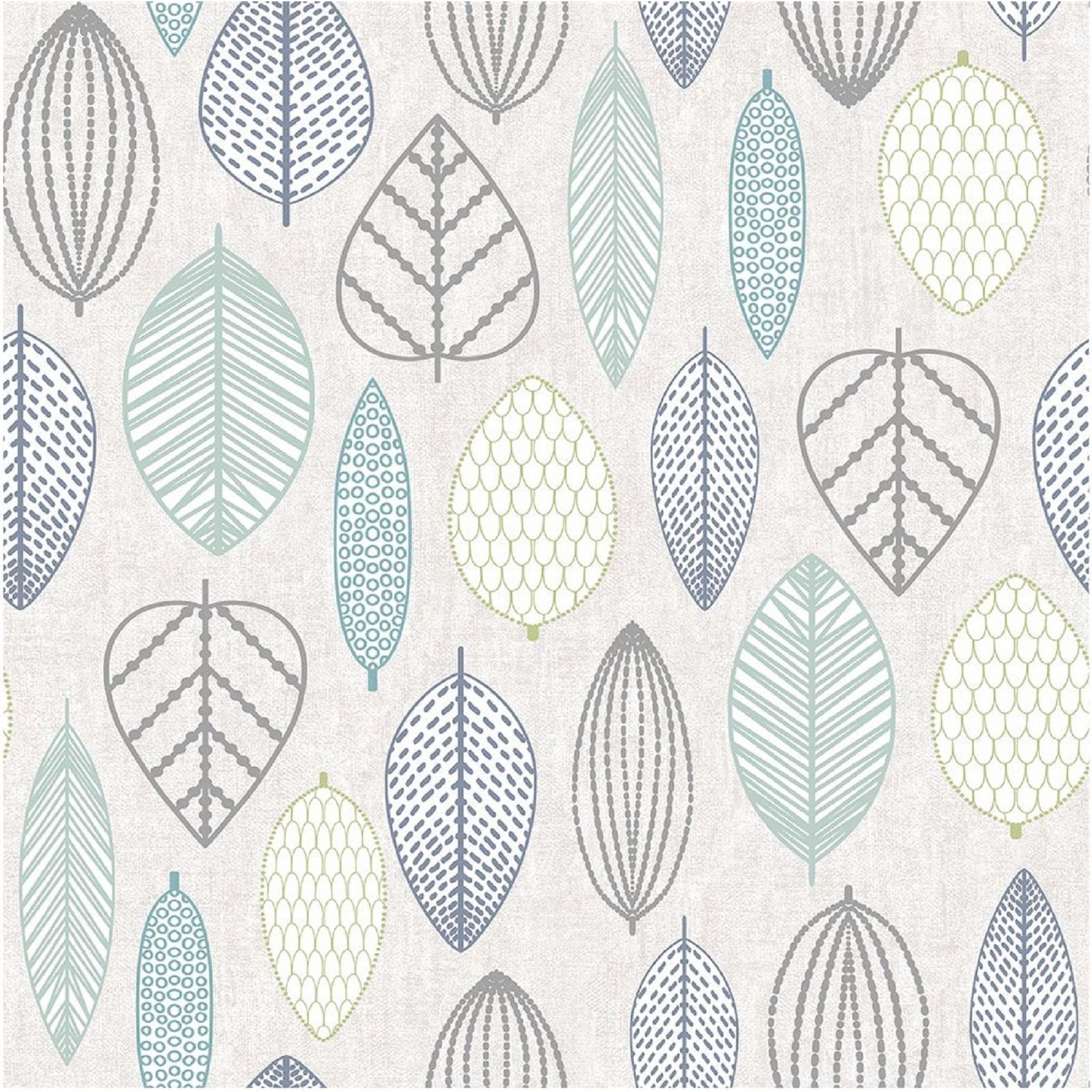 Superfresco Easy Paste the Wall Scandi Leaf Blue Wallpaper