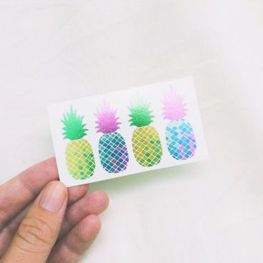 Metallic pineapple temporary tattoos ($10, etsy.com) make a fun gift for your pals with flair. http://thestir.cafemom.com/beauty_style/187376/trend_alert_fab_fruit_fashion