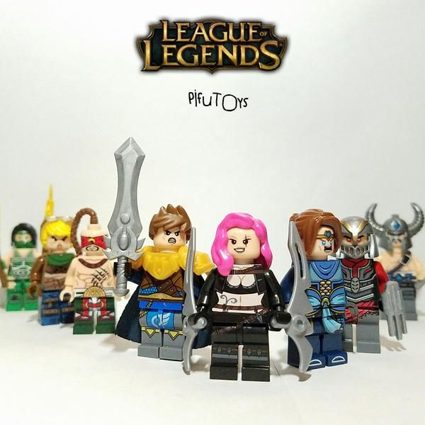 League of Legends LOL - Lot de 8 Minifigures | PifuToys Minifigures ...