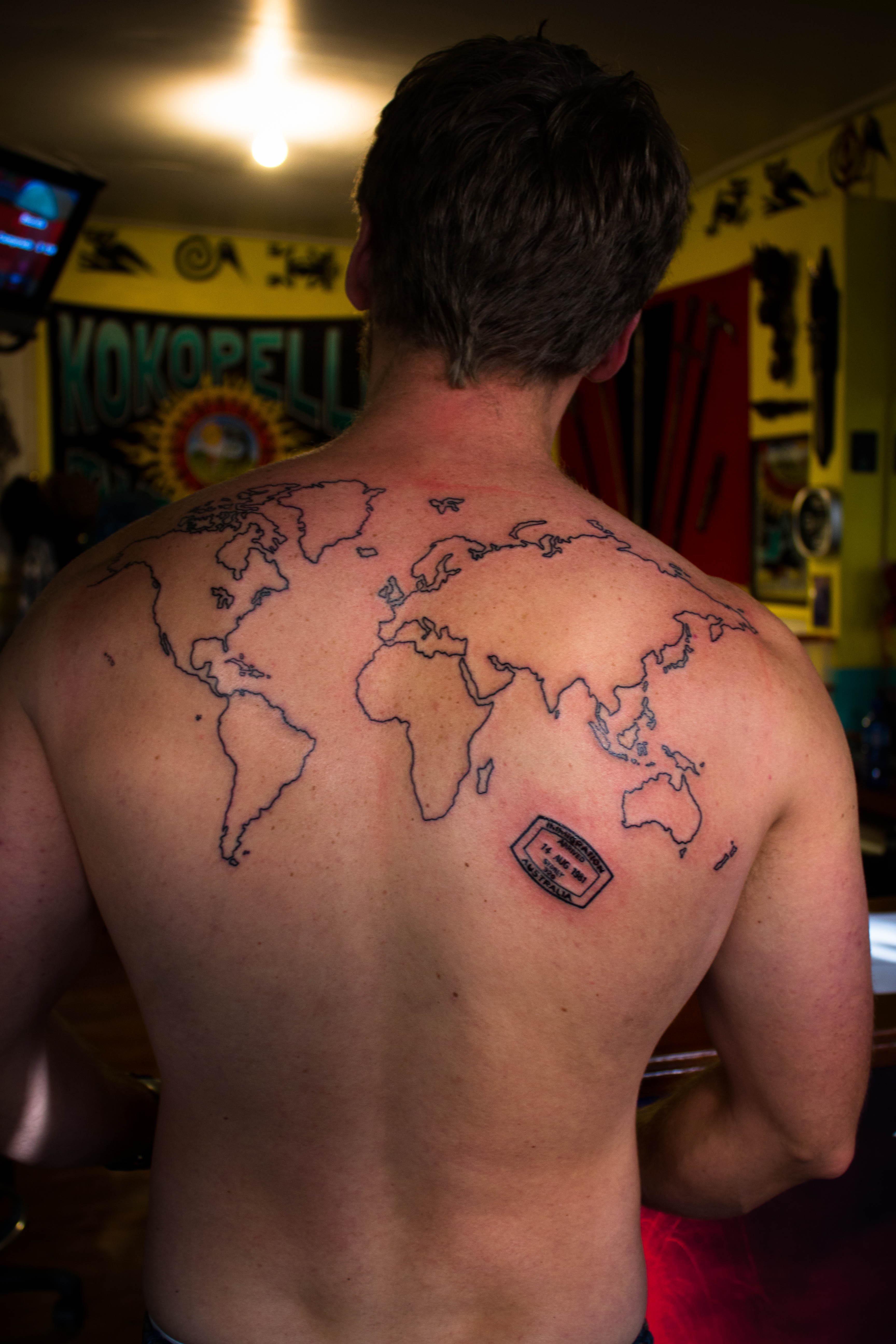 World map tattoo ankle world map tattoo pinterest world map tattoo ankle gumiabroncs Image collections