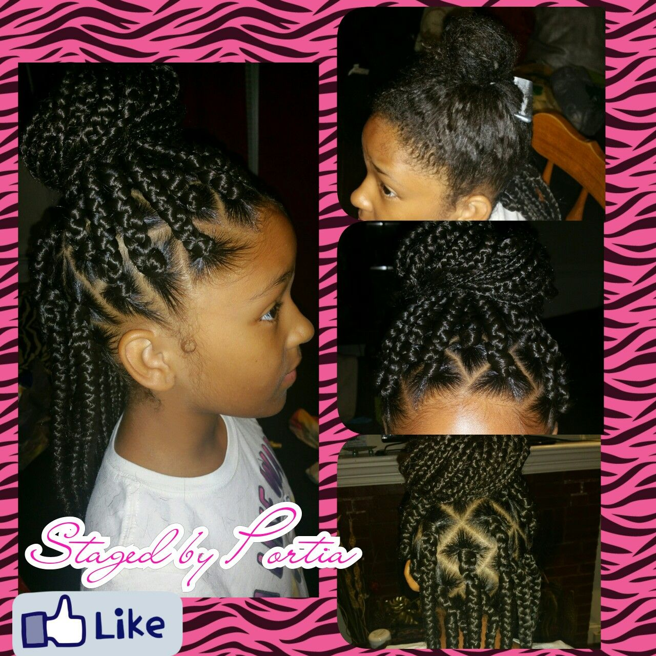 little girl box braids | staged by portia in 2019 | hair