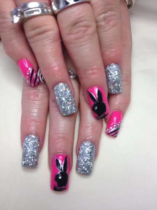 Playboy by roxchemicalera nail art gallery nailartgallery playboy prinsesfo Image collections