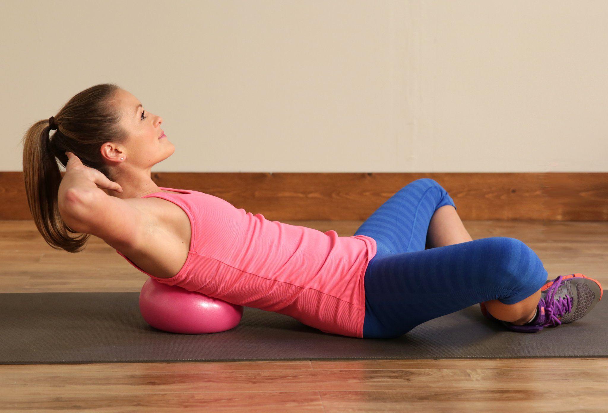 Upper Ab Crunch Ball Exercises Upper Abs Exercise