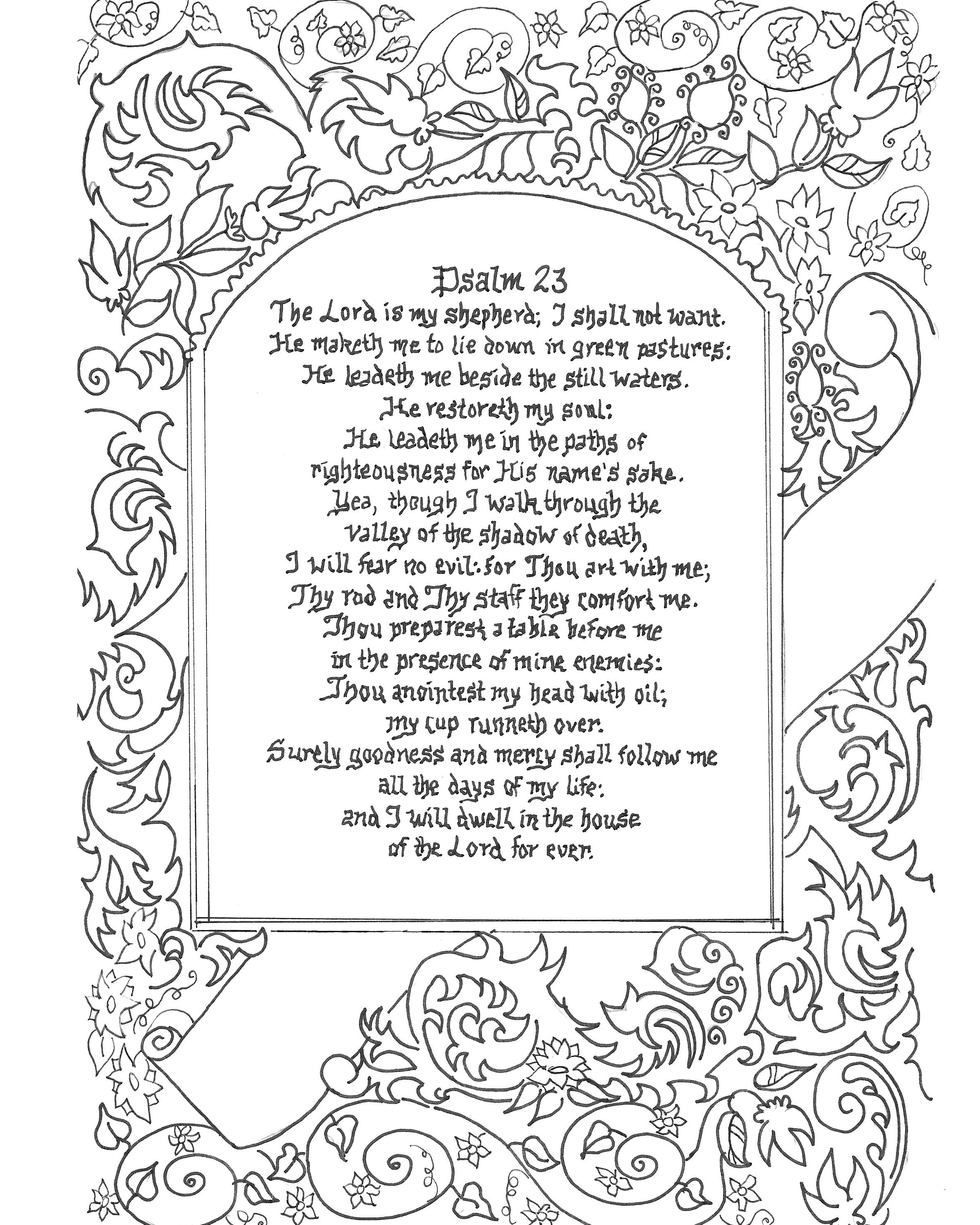 Free Coloring Printable Page 8x10 Download And Color As You Read And Reflect On Bible God S Word