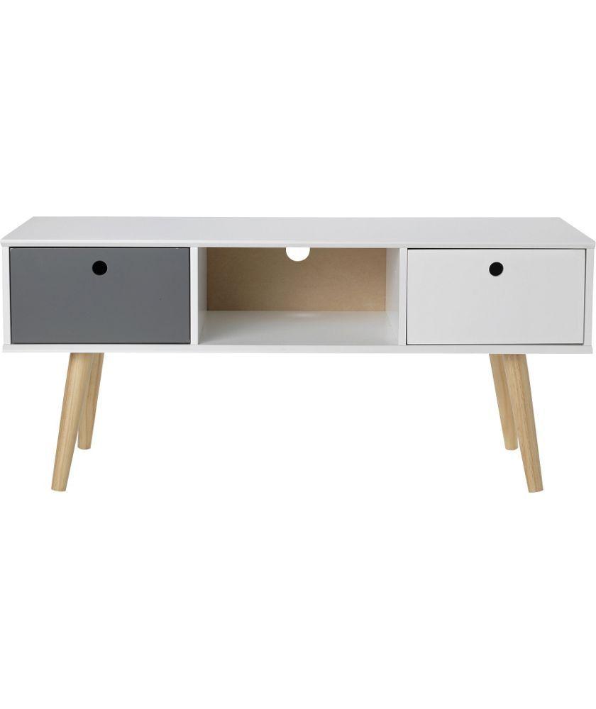 Buy Hygena Alto 2 Drawer TV Unit - White/Grey at Argos.co.uk ...