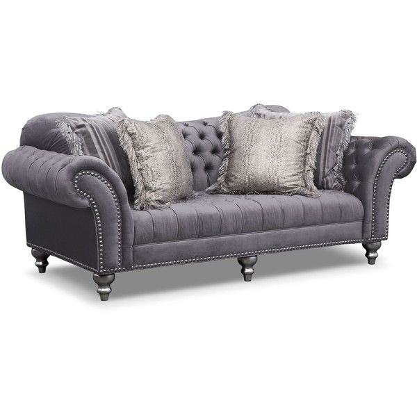 value city furniture couches Brittney Gray Sofa | Value City Furniture ❤ liked on Polyvore  value city furniture couches