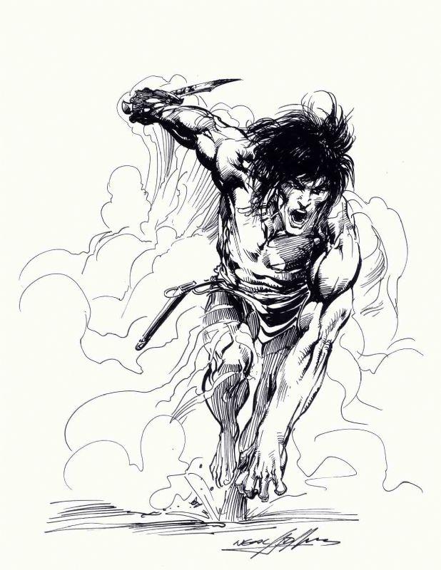 Neal Adams Tarzan: Charge! Comic Art