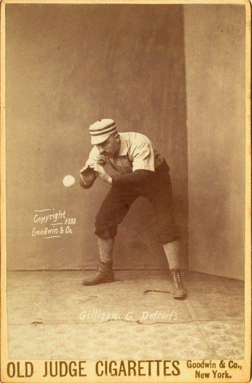 Ca 1888 Cabinet Card Portrait Of Catcher Barney Gilligan Of