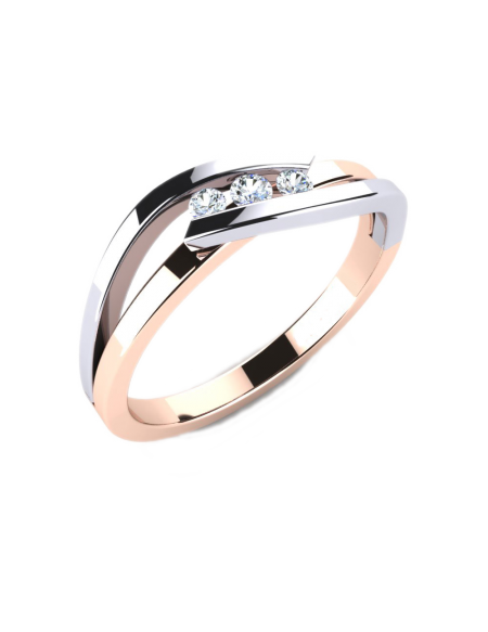 3a608fcc9fb4 Anillo compromiso Oro Blanco   Rosa con diamantes