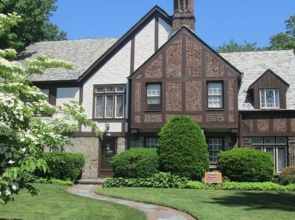 English tudor with cedar shake siding google search my for Tudor siding
