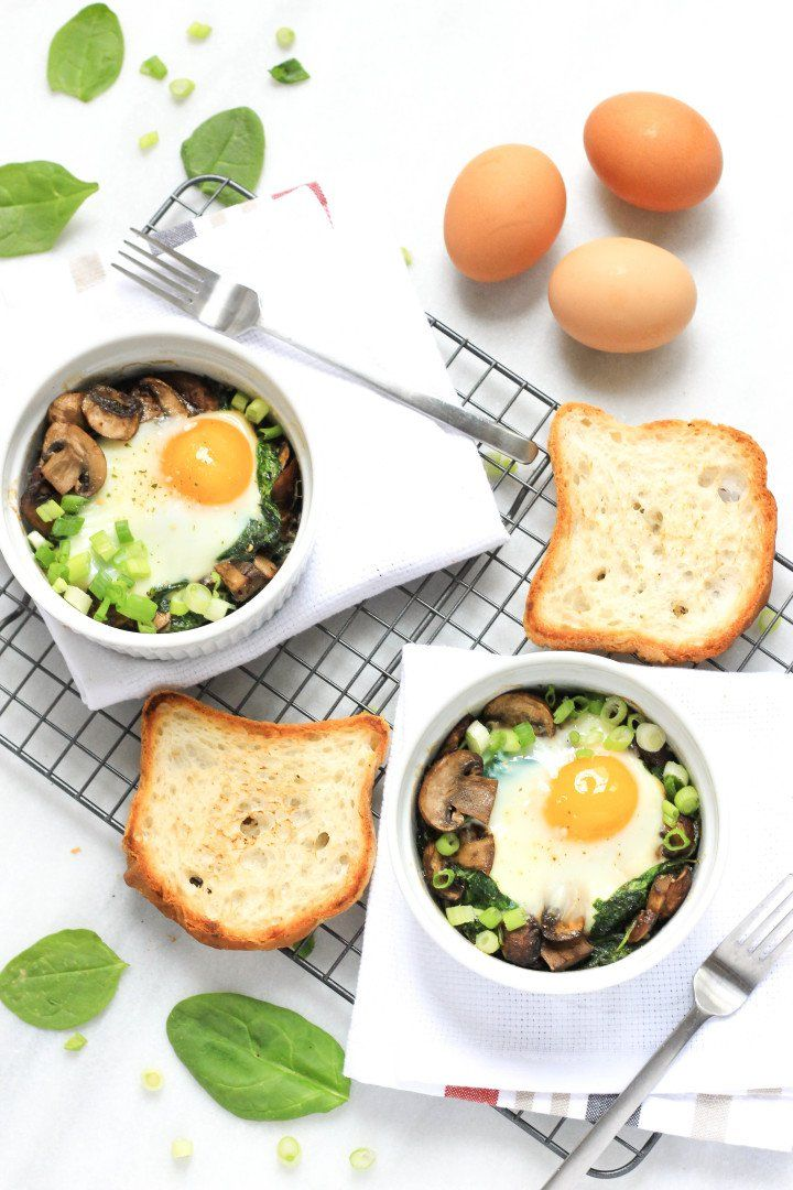 27 Power Breakfasts To Push You Through The Day Spinach Stuffed Mushrooms Mushroom Dish Recipes