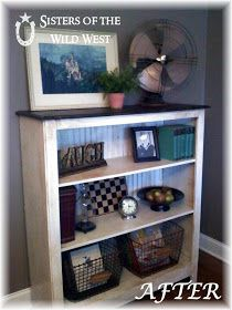 Sisters of the Wild West: Bookcase: Before & After