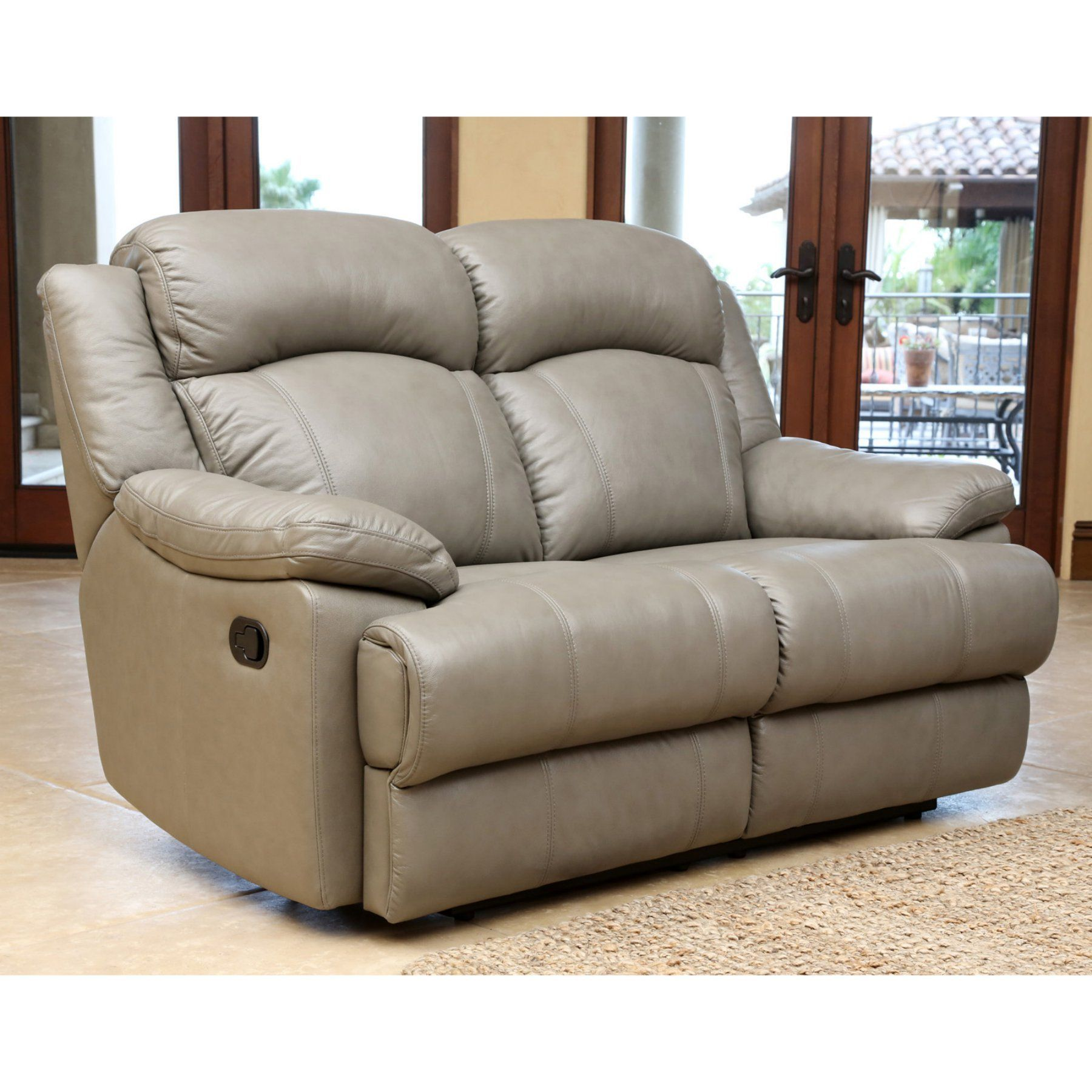 Wondrous Abbyson Bethany Reclining Leather Loveseat Cx 6118 Gry 2 Pdpeps Interior Chair Design Pdpepsorg