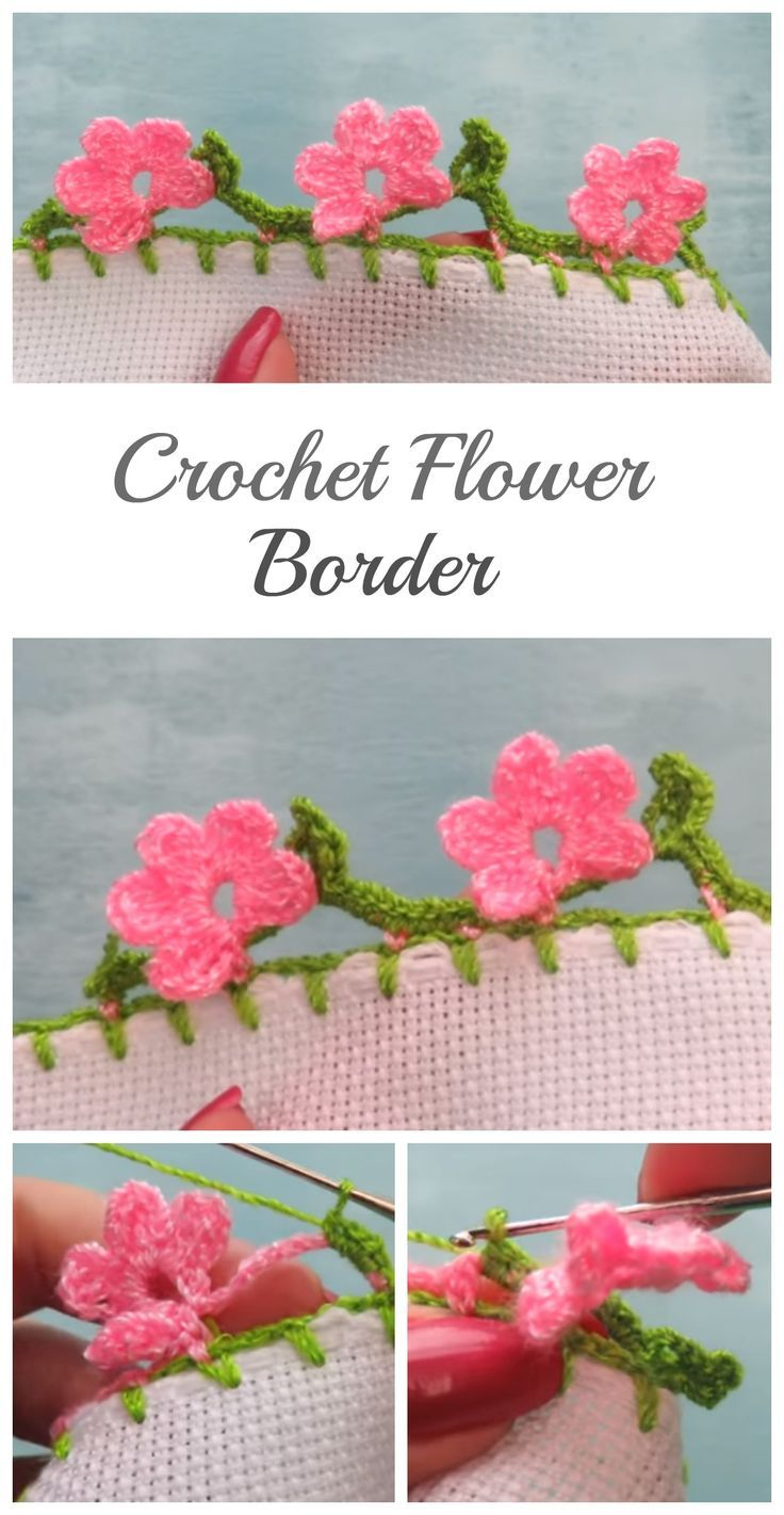 Crochet Beautiful Flower Border Crochet Flower And Crochet Borders