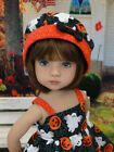 Haunted Pumpkin Patch - dress hat & shoes for 13 Effner Little Darlings Doll #Doll #pumpkinpatchoutfit