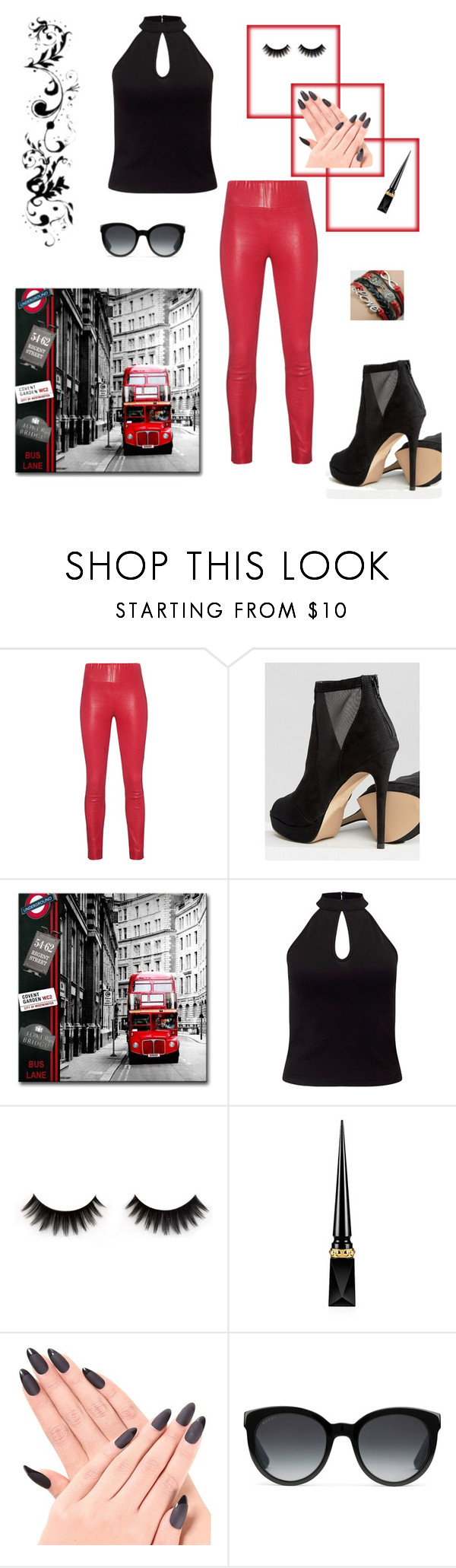 """Untitled #110"" by csarm61364 ❤ liked on Polyvore featuring SPRWMN, ALDO, Miss Selfridge, Christian Louboutin and Gucci"