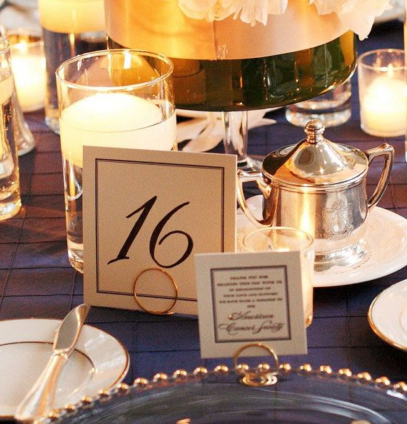 Gold Table Number Holders Wedding Decorations By HomesAndWeddings 10800