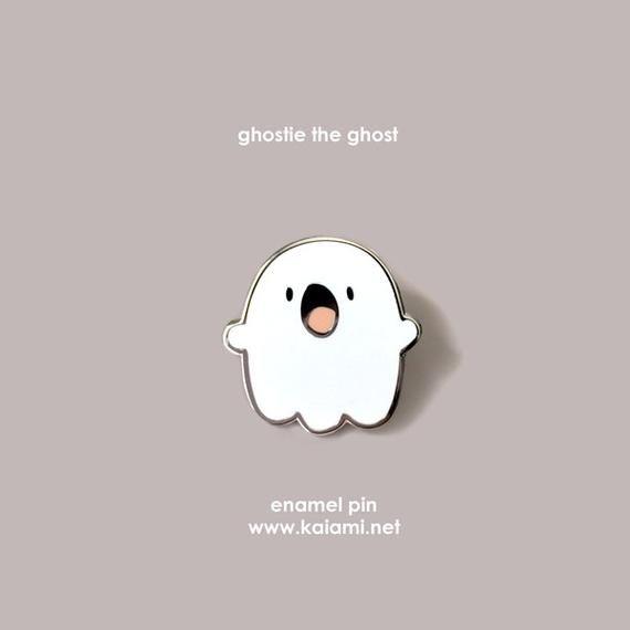 Ghostie the Ghost Enamel Pin