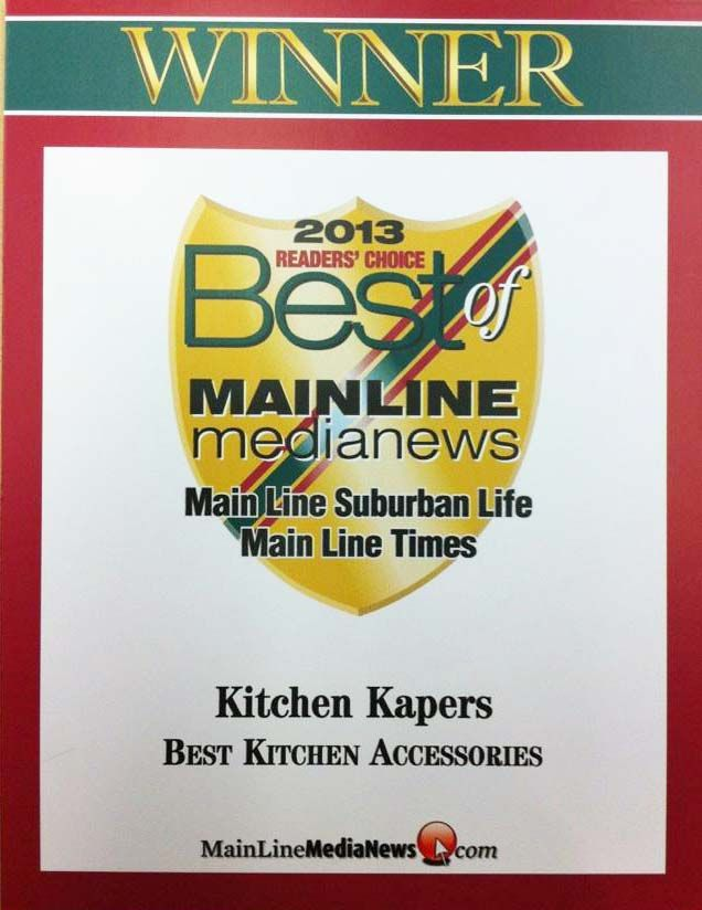 Delicieux Kitchen Kapers Has Been Voted Best Of The Mainline For Kitchen Accessories!  Thanks To All
