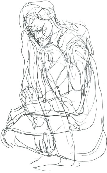 Line Art Figures : Approaching figure drawing line pinterest
