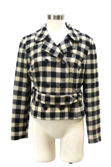Pendleton  Vintage trendy monochrome wool crop jacket coat. Very good condition. Measurements size: small pit to pit: 20 waist: 18 bust: 19 length: 20  Period Search 1950s