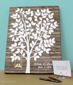Peachwik\'s cake toppers and guest book alternatives are so awesome ...