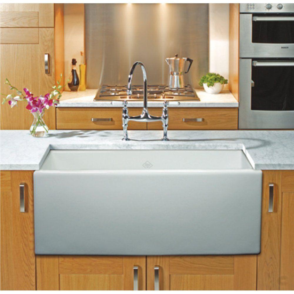 Shaws Classic Shaker 800 1.0 Bowl White Ceramic Belfast Kitchen Sink ...