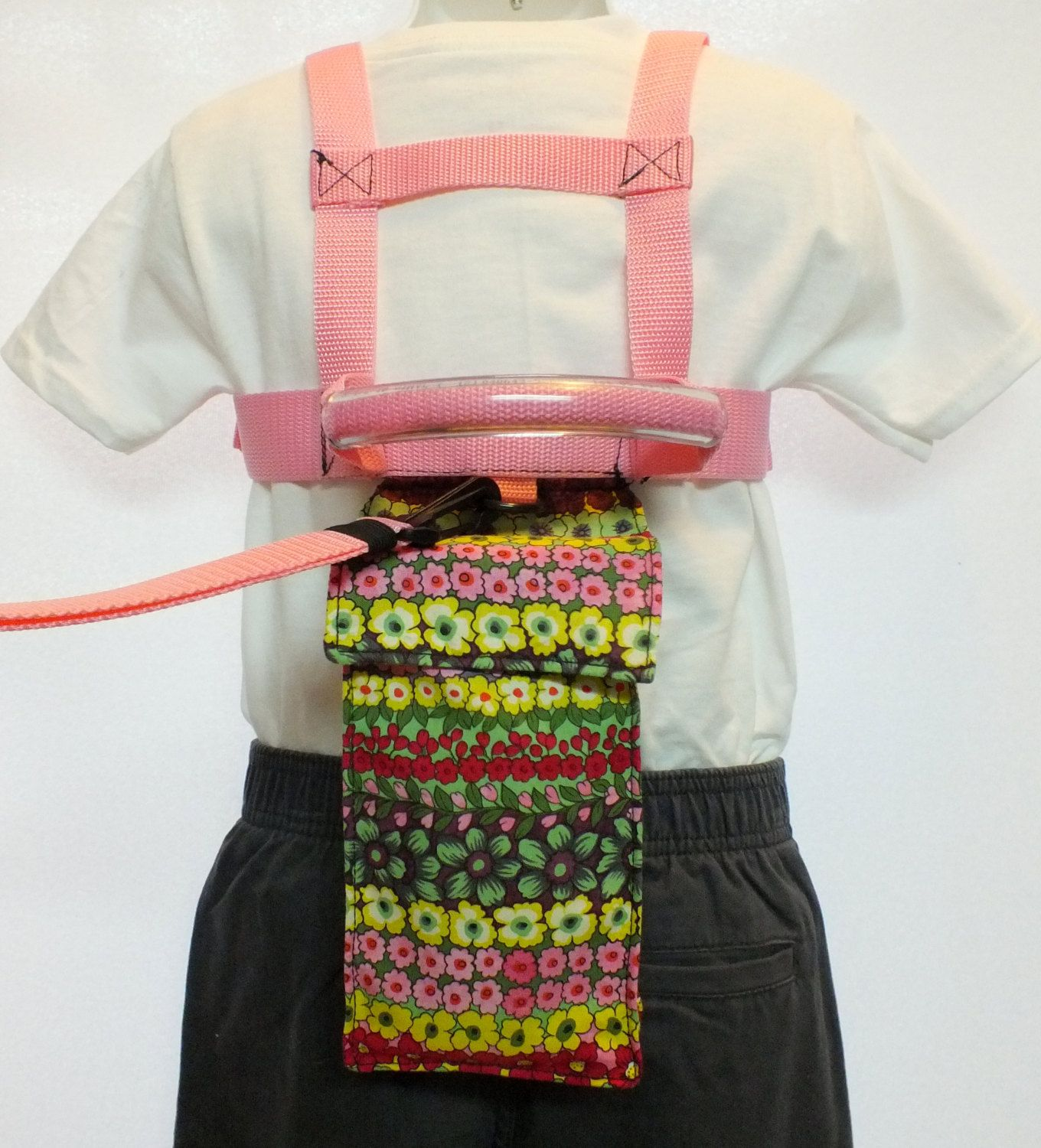 Child safety harness and tether lead pink floral