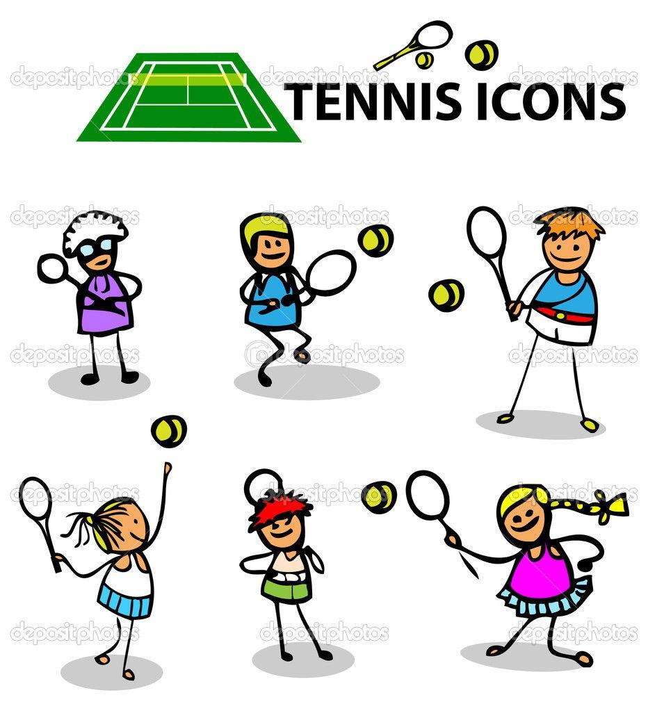 Kids Playing Tennis Clipart Google Search Cartoon Clip Art Clip Art Cartoon
