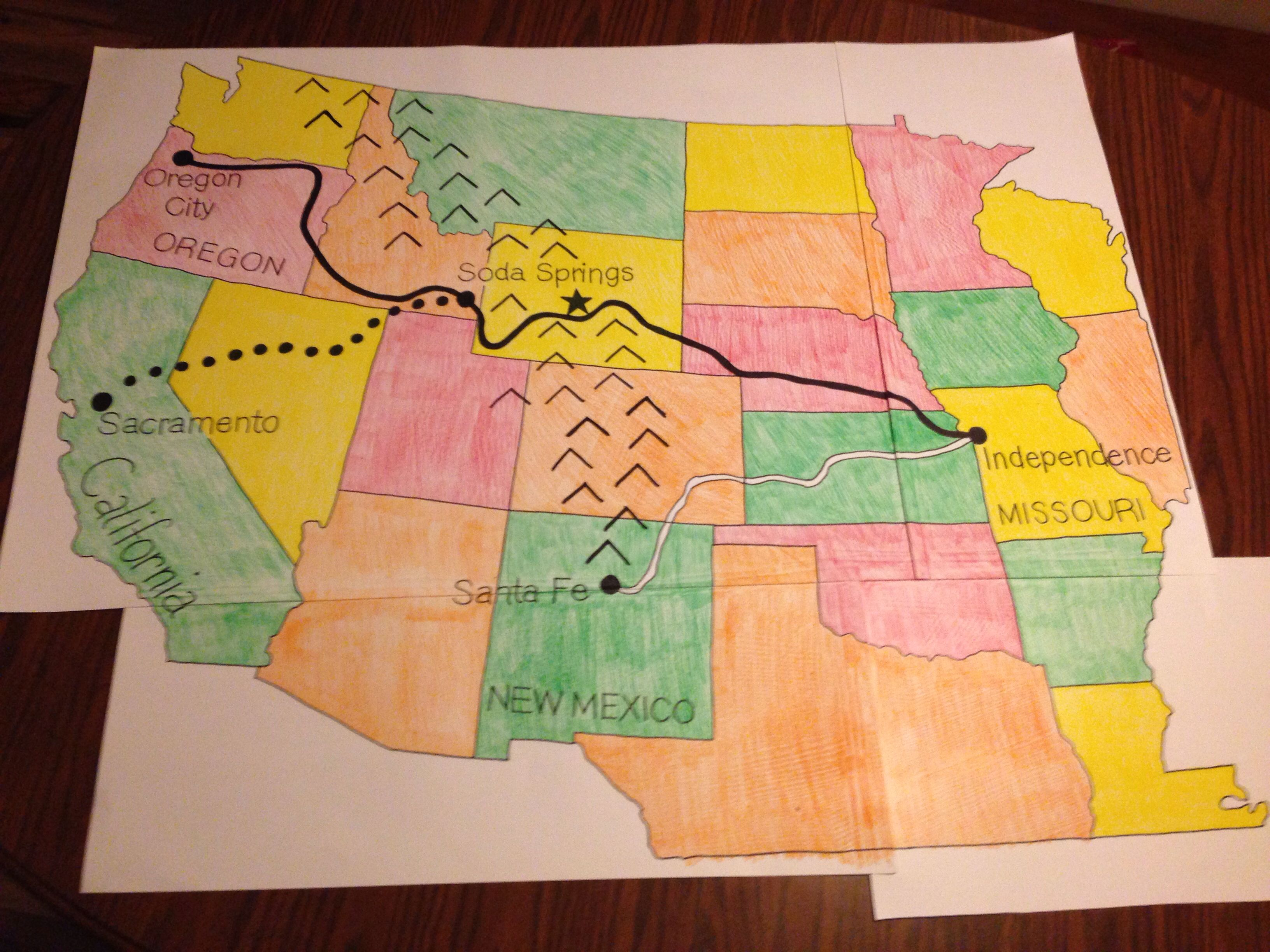 The Map I Created For My Bulletin About The Westward