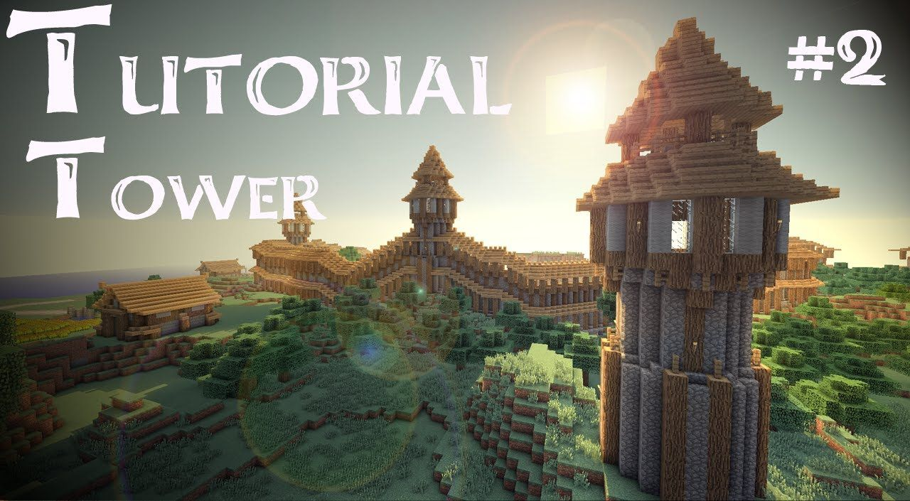 Minecraft Tutorial How To Build A Medieval Guardtower Version 2