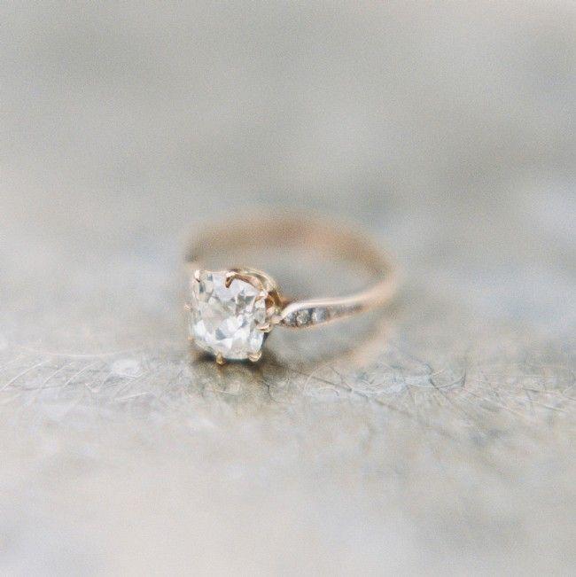 Handmade Vintage Inspired Solitiare Engagement Ring | Meridian Rose Gold from Trumpet & Horn