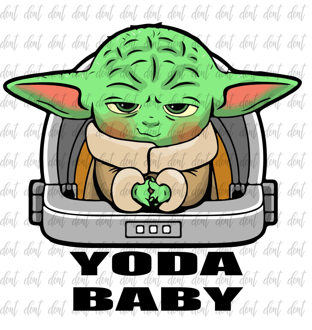 Baby Yoda Clip Art Star Wars Space Baby Mandalorian Etsy Star Wars Baby Yoda Clipart Clip Art