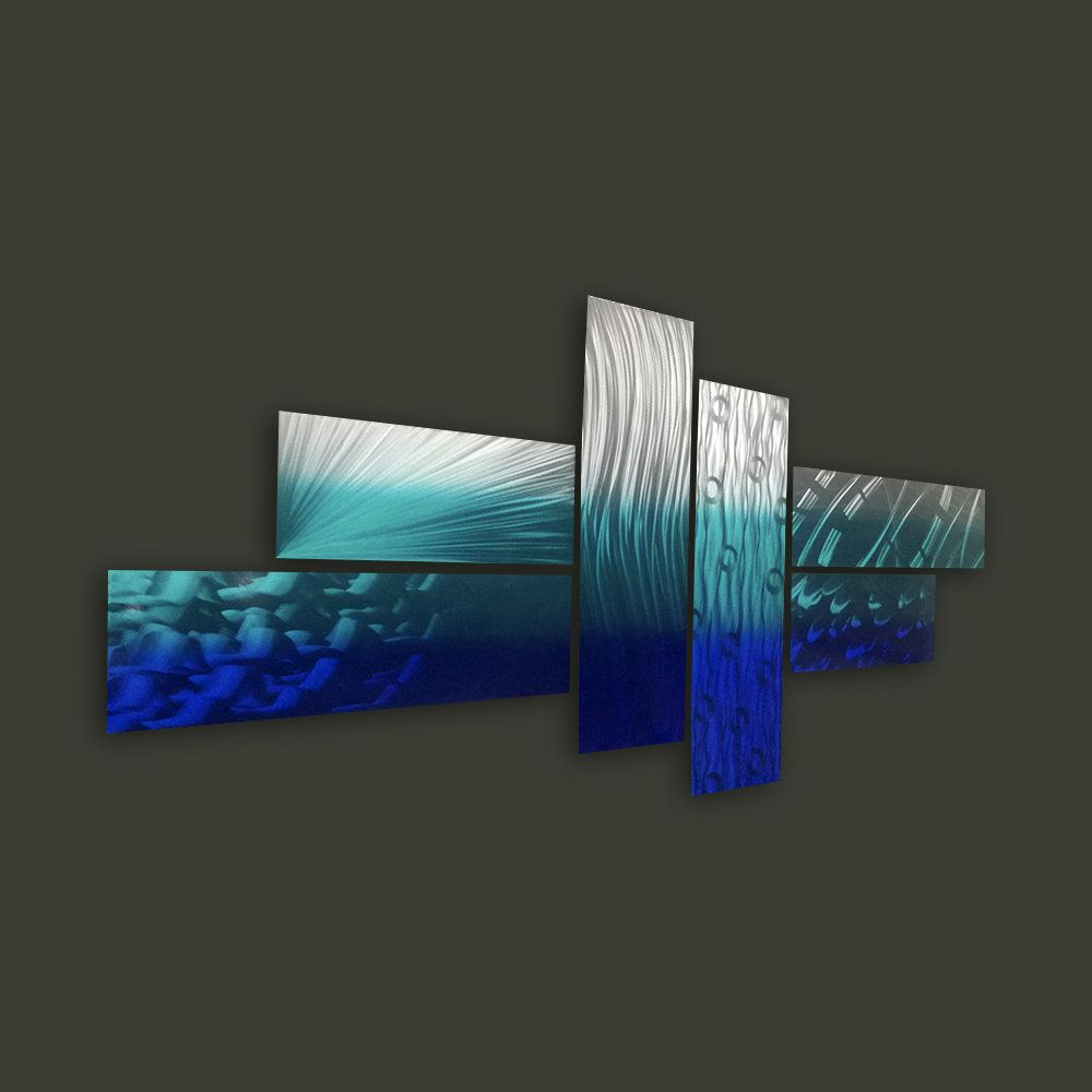 Park Art My WordPress Blog_Teal Blue Metal Wall Art