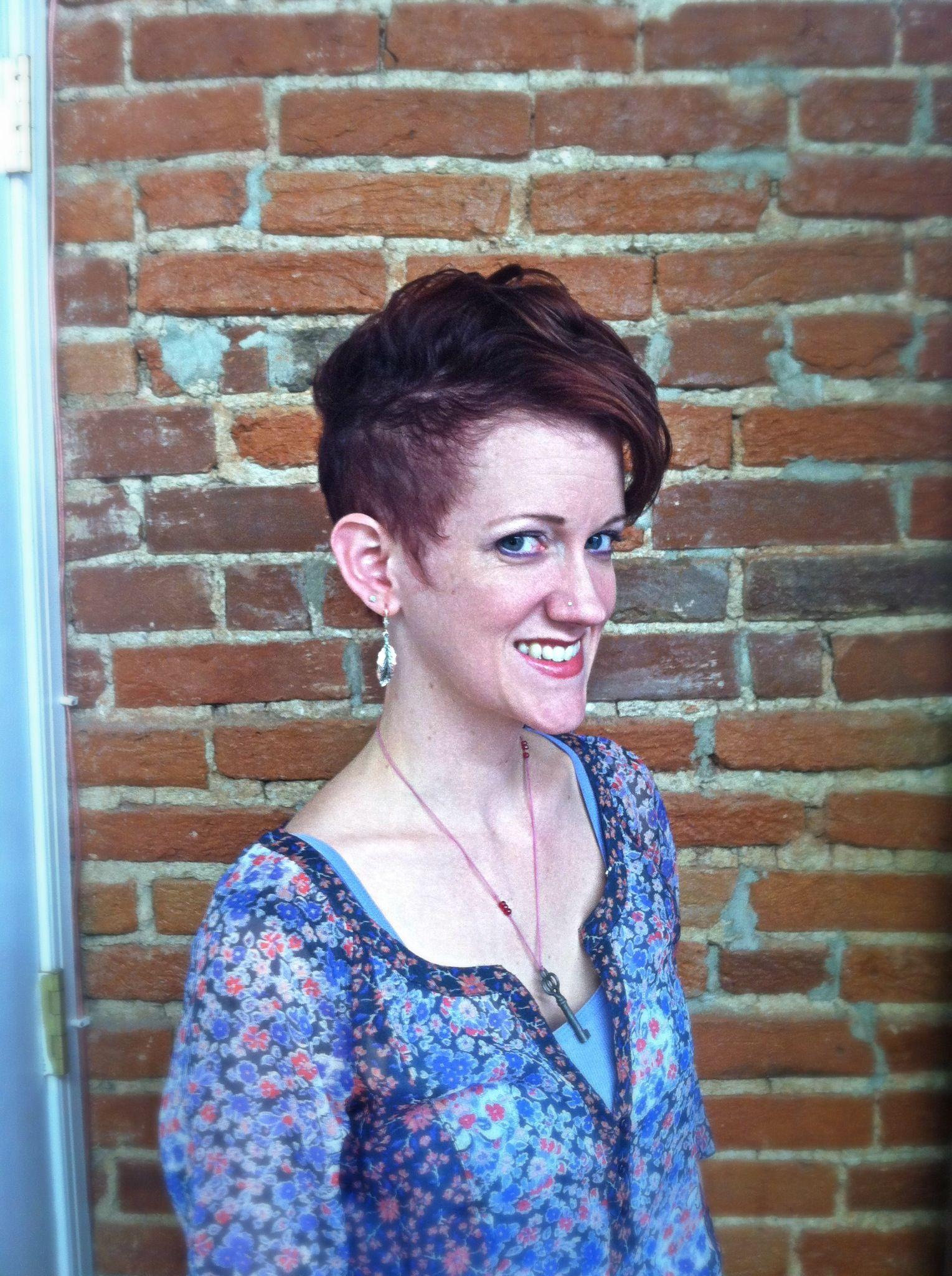 Short womenus hair cutshorthairsassyhairredhairbalncehairspa