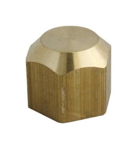 Jmf 4502340 Flare Cap 1 2 Yellow Brass Brass Cap