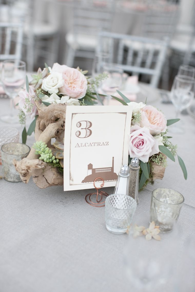 Rustic Chic California Wedding | Pinterest | Driftwood centerpiece ...