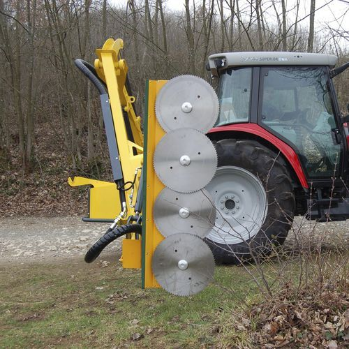 Arboriculture Pruning Machine Tractor Mounted Disc Minilem Rousseau Tractors Tractor Idea Tractor Implements