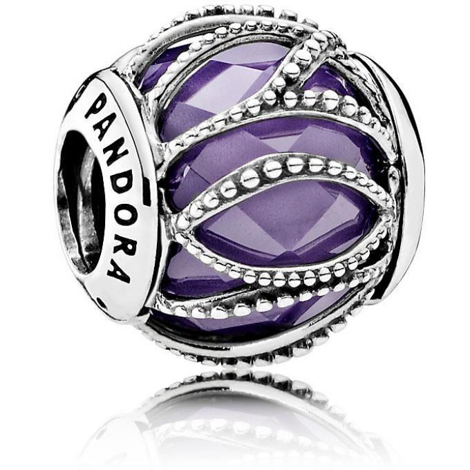 791968ACZ with Ball Charm Pandora Silver with Purple geq4VsxYBK