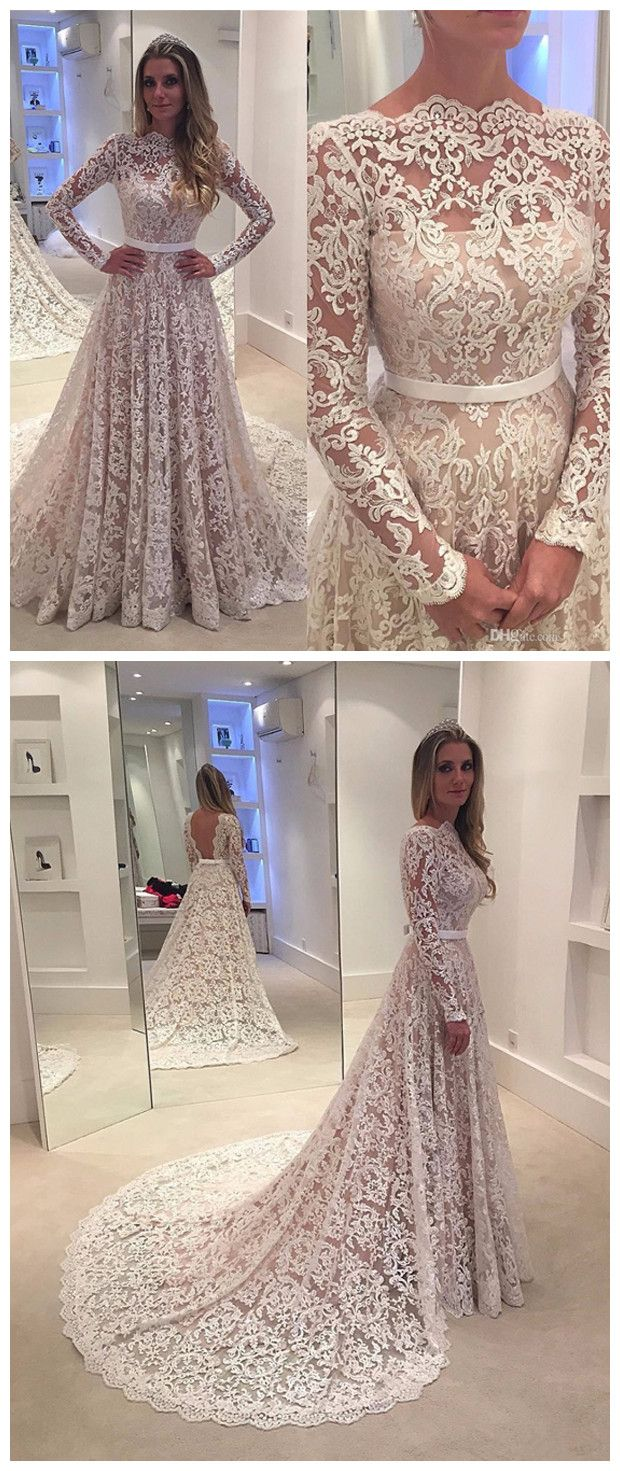 Chic A Line Prom Dresses Floor Length Long Sleeve Ivory Lace Long Prom Dress Evening Dresses Amy415 Lace Dress With Sleeves Wedding Dresses Lace Long Sleeve Wedding Dress Lace [ 1471 x 620 Pixel ]