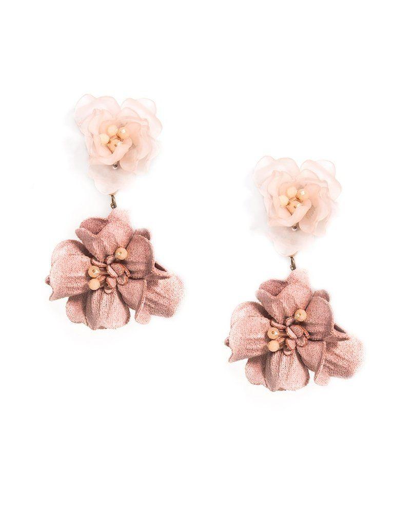Realistic Floral Drop Earrings Statement Drop Earrings Drop Earrings Earrings