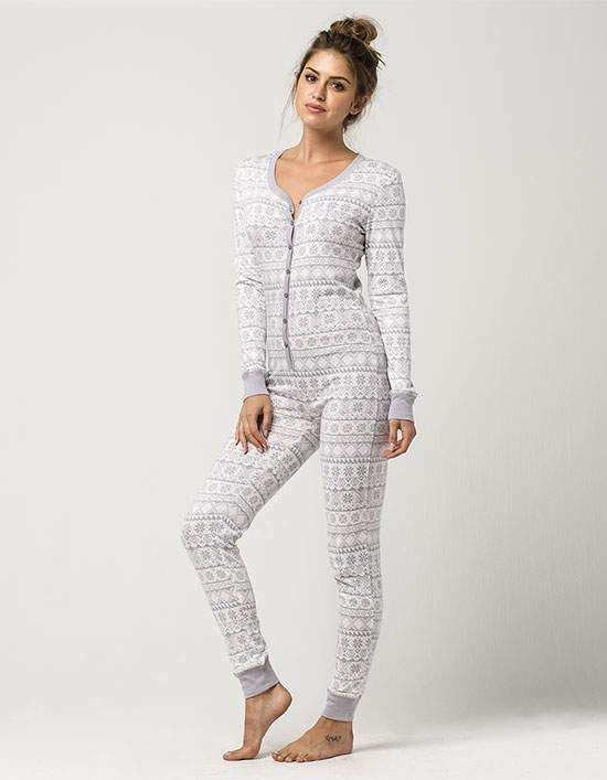 63c001fd512a COSMIC LOVE Fair Isle Womens PJ Onesie