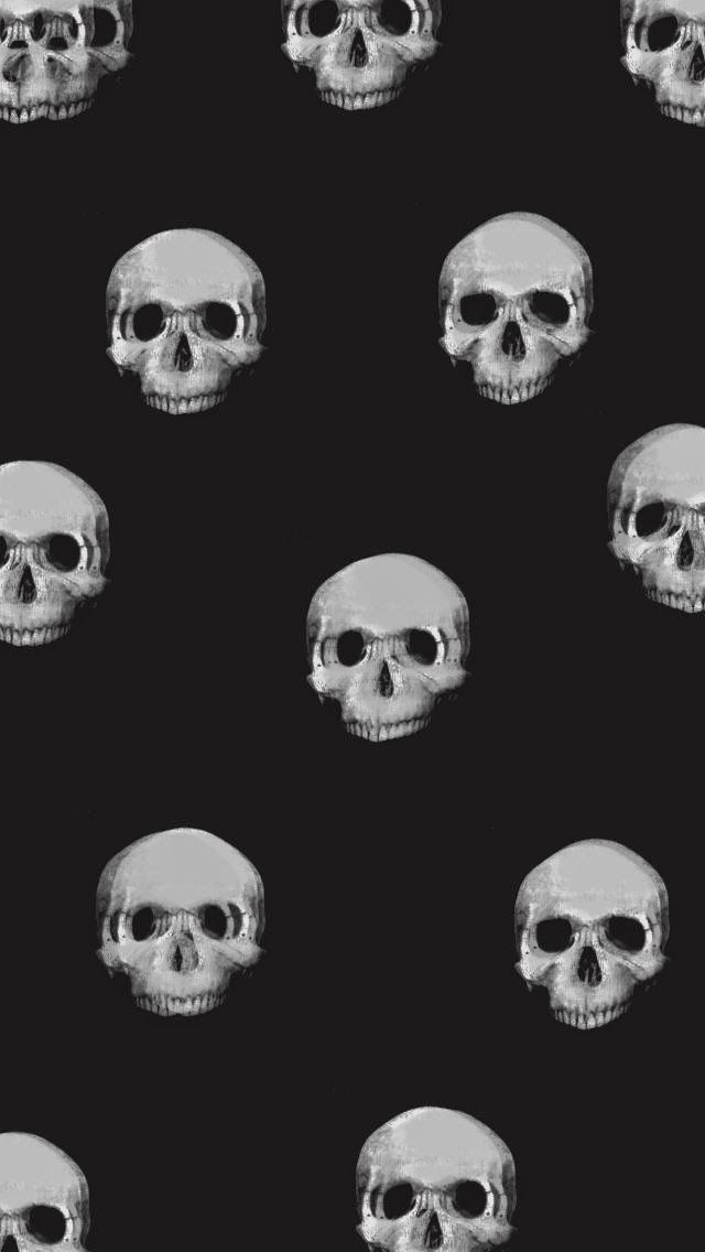 Nothing But Design Halloween Wallpaper For Iphone On We Heart It Halloween Wallpaper Iphone Skull Wallpaper Skull Wallpaper Iphone