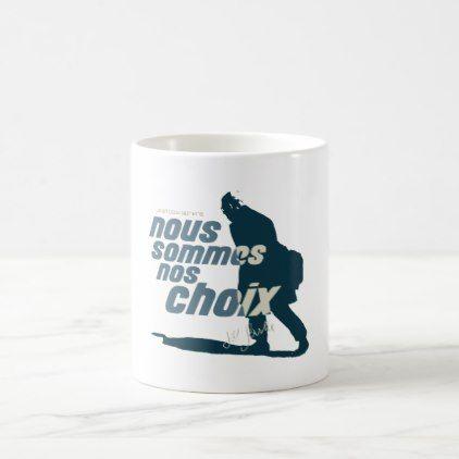 Jean Paul Sartre Nous sommes nos choix Coffee Mug | Zazzle.com #jeanpaulsartre