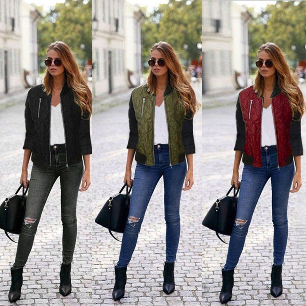 Fashion Ladies Women Long Sleeve Zipper Coat Jacket Short Coat Casual Outerwear# #Unbranded #NEW
