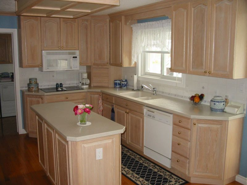 These Cabinets Have Been Bleached And Sealed With A Clear Coat I Like Thi Unfinished Kitchen Cabinets Kitchen Cabinets Home Depot Solid Wood Kitchen Cabinets