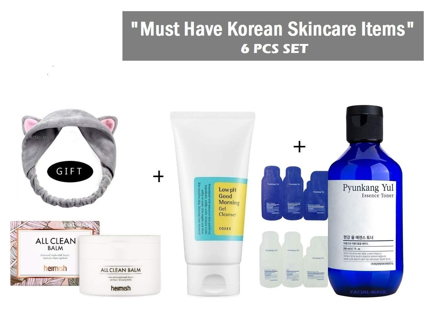 Heimish All Clean Balm Cosrx Low Ph Good Morning Gel Cleanser Bundle With Gifts 6 Items Gel Cleanser The Balm Korean Skincare