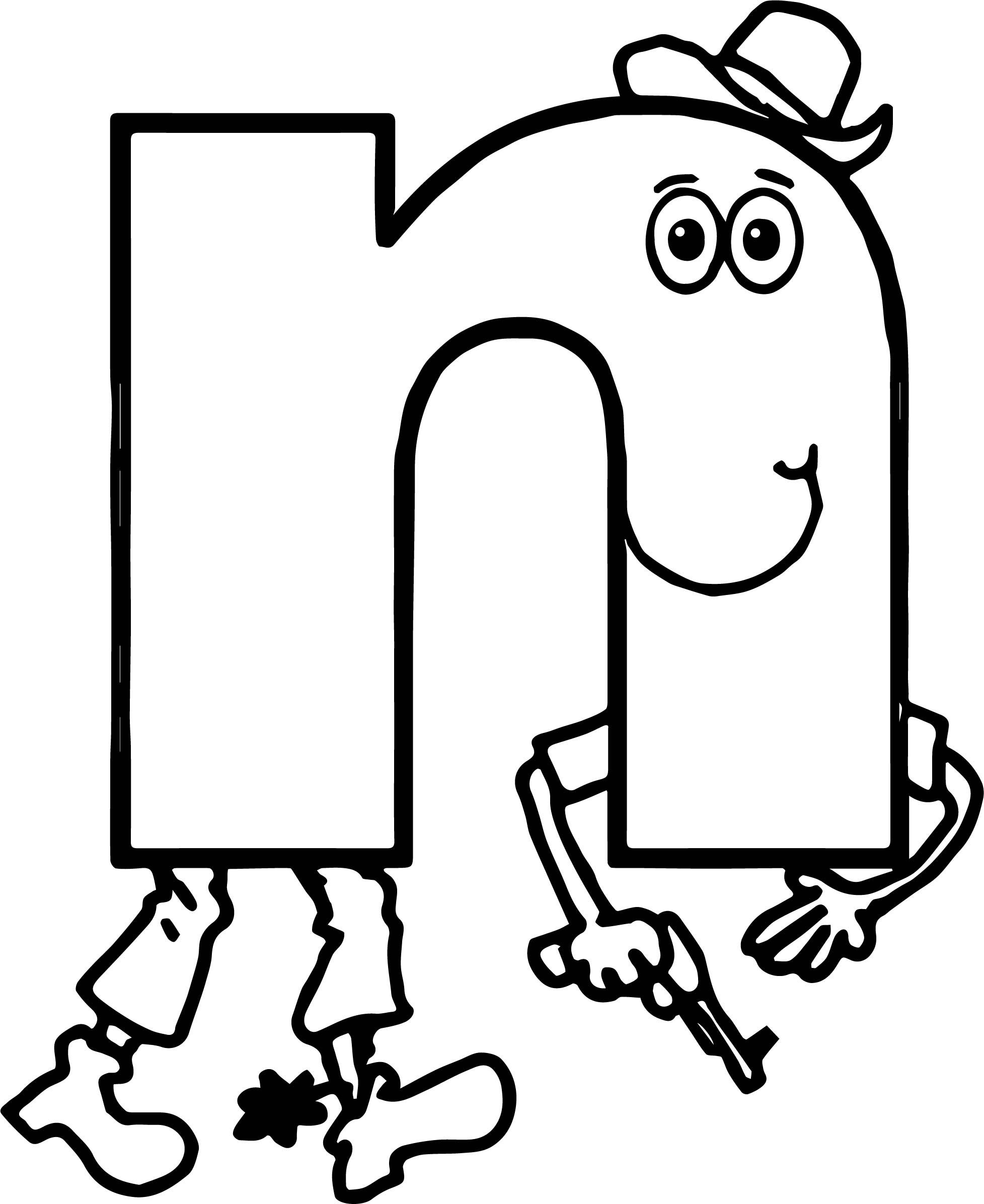 Awesome Alphabet For Kids Alphabet N Coloring Page
