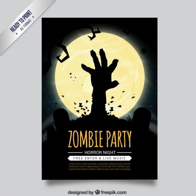 ZombiePartyFlyerJpg   Twd